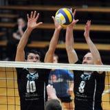 Kaposvar - Murska Sobota Volleyballspiel Stockbilder