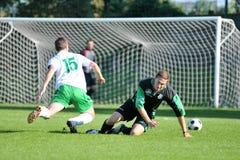 Kaposvar - Nagyatad soccer game Royalty Free Stock Photography