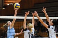 Kaposvar - Nyiregyhaza Volleyballspiel Stockfoto