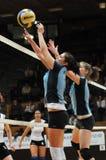 Kaposvar - Nyiregyhaza Volleyballspiel Lizenzfreie Stockbilder