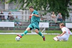 Kaposvar - Nyirsuli U19 soccer game Royalty Free Stock Photo