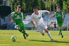Kaposvar-Paks au-dessous de le jeu de football 19 Images libres de droits