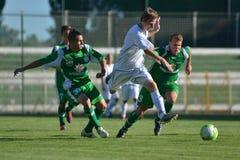 Kaposvar-Paks onder 19 voetbalspel Stock Foto's