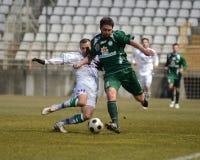 Kaposvar - Paks soccer game Royalty Free Stock Photo