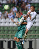Kaposvar - Paks soccer game Stock Images