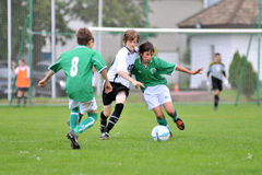 Kaposvar - Paks U13 soccer game Stock Images