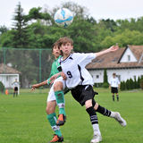 Kaposvar - Paks U13 soccer game Stock Photos