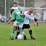 Kaposvar - Paks U13 soccer game Stock Photography