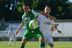 Kaposvar-Paks under 19 soccer game Stock Photography