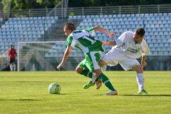 Kaposvar-Paks under 19 soccer game Royalty Free Stock Images