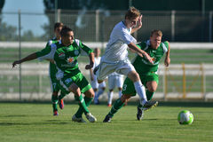 Kaposvar-Paks under 19 soccer game Stock Photos