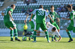 Kaposvar-Paks under 19 soccer game Stock Images