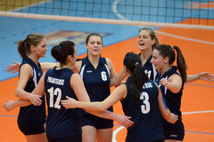 Kaposvar - Palota volleyball game Stock Image