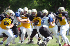 Kaposvar - Pecs american football game Stock Images