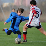 Kaposvar - Pecs U13 soccer game Royalty Free Stock Images