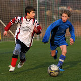 Kaposvar - Pecs U13 soccer game Stock Photo
