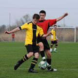 Kaposvar - Pecs U19 soccer game Royalty Free Stock Photography