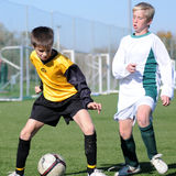 Kaposvar - Pecs under 13 soccer game Royalty Free Stock Photos