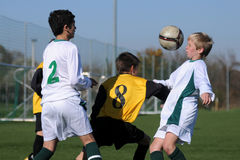 Kaposvar - Pecs under 13 soccer game Royalty Free Stock Photography