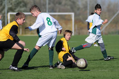 Kaposvar - Pecs under 13 soccer game Stock Photography