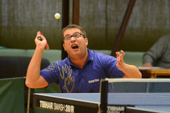 Kaposvar - Polgardi table tennis game Stock Photo