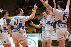 Kaposvar - Resovia volleyball game Stock Photography