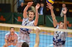 Kaposvar - Resovia Volleyballspiel Lizenzfreies Stockbild