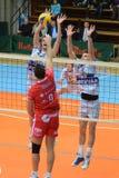 Kaposvar - Resovia Volleyballspiel Lizenzfreies Stockfoto