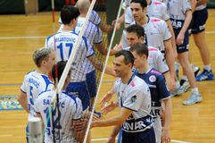 Kaposvar - Salonit Anhovo volleyball game Royalty Free Stock Photography