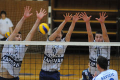 Kaposvar - Salonit Anhovo volleyball game Stock Photos