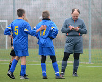 Kaposvar - Siofok bajo juego de fútbol 13 Foto de archivo