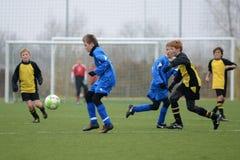 Kaposvar - Siofok onder 13 voetbalspel Royalty-vrije Stock Foto's