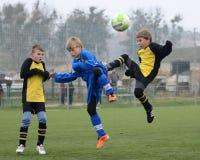 Kaposvar - Siofok onder 13 voetbalspel Stock Fotografie
