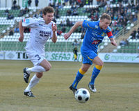 Kaposvar - Siofok soccer game Royalty Free Stock Photography