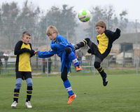 Kaposvar - Siofok under 13 soccer game Stock Photography