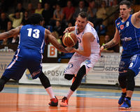 Kaposvar - Sopron basketball game Stock Image
