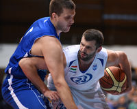 Kaposvar - Sopron basketball game Stock Images