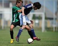Kaposvar - Syfa West under 17 soccer game Stock Photos