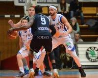 Kaposvar - Szeged basketball game Stock Photos
