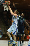 Kaposvar - Szeged Basketballspiel Lizenzfreie Stockfotografie