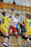 Kaposvar - Szekszard handball game Royalty Free Stock Photo