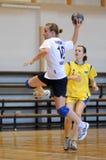 Kaposvar - Szekszard handball game Stock Images