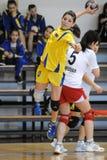 Kaposvar - Szekszard handball game Royalty Free Stock Image