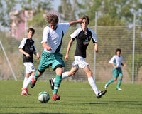Kaposvar - Szekszard U15 soccer game Stock Photography