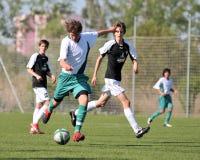 Kaposvar - Szekszard U15 soccer game Stock Photography