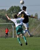 Kaposvar - Szekszard U15 soccer game Stock Images