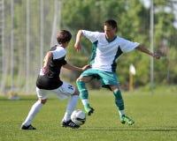 Kaposvar - Szekszard U15 soccer game Stock Photo