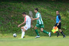 Kaposvar - Szentlorinc soccer game Royalty Free Stock Photography