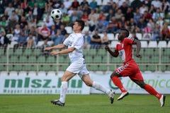 Kaposvar - Szolnok voetbalspel Stock Foto's