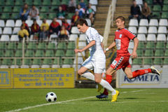 Kaposvar - Szolnok voetbalspel Stock Afbeelding